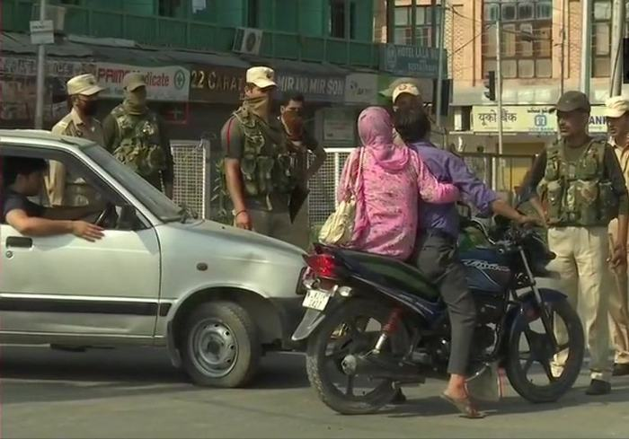 Security has been tightened in the region. Pic: ANI