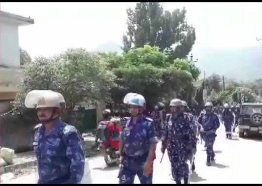 The Rapid Action Force (RAF) has been deployed in Poonch. Pic: ANI