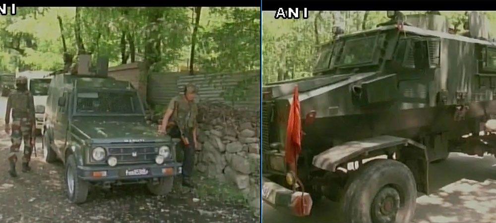 कश्मीर के त्राल में सेना के काफिले पर आतंकी हमला, घेराबंदी कर सर्च ऑपरेशन जारी